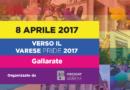 Gallarate, gazebo informativo sul Varese Pride con Gallarate Pride Square. Sab 8 aprile
