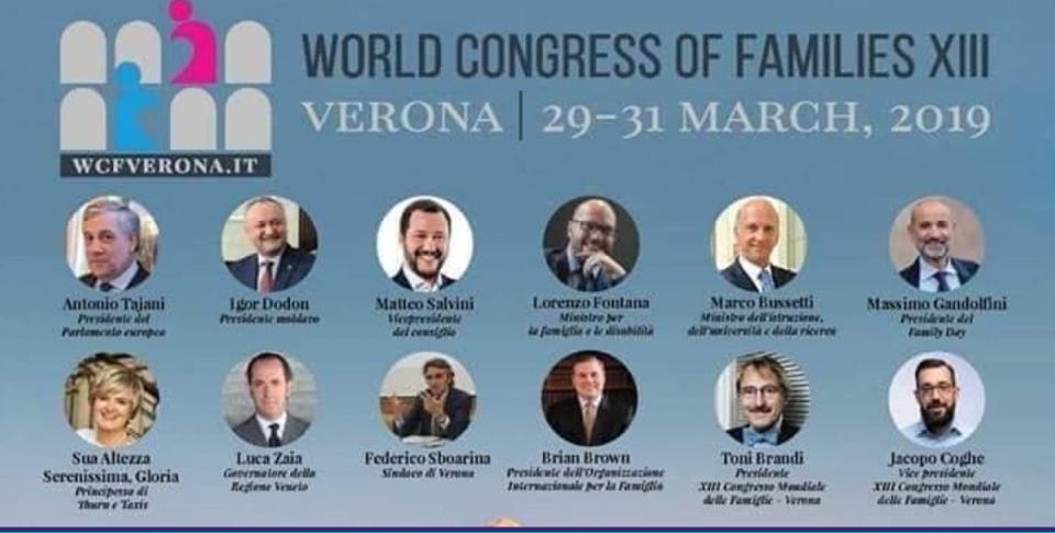 """Verona, Congresso mondiale famiglie a fine mese. Arcigay chiama alla mobilitazione: """"Nessun passo indietro sui diritti"""""""